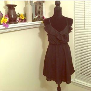 BCBGeneration ruffle black dress